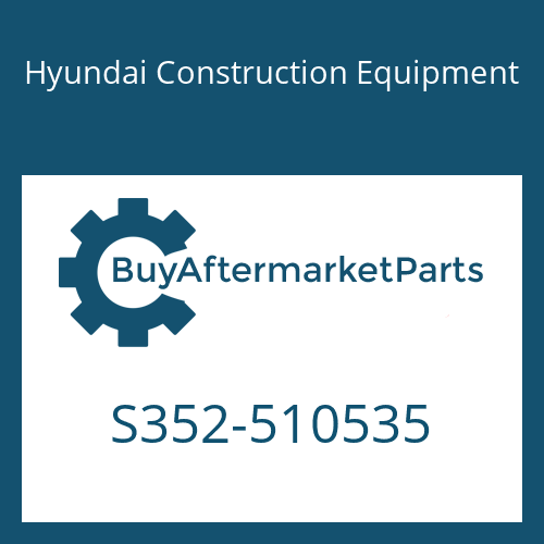 Hyundai Construction Equipment S352-510535 - PLATE-TAPPED,1 HOLE