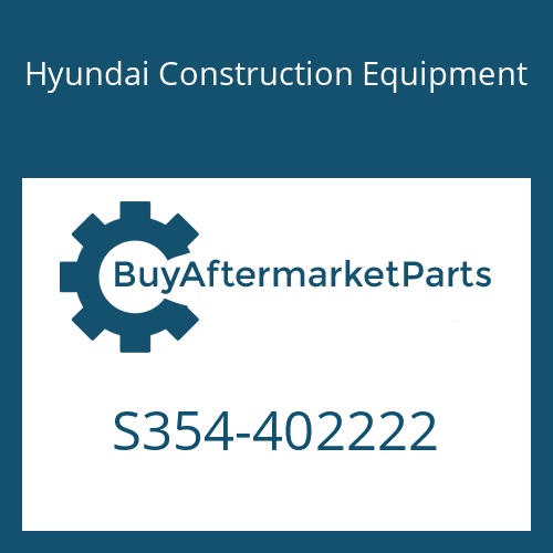 Hyundai Construction Equipment S354-402222 - PLATE-TAPPED,1 HOLE