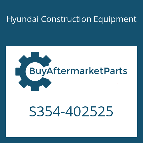 Hyundai Construction Equipment S354-402525 - PLATE-TAPPED,1 HOLE