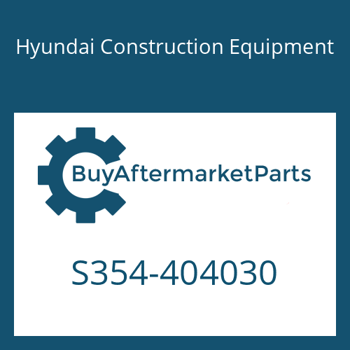Hyundai Construction Equipment S354-404030 - PLATE-TAPPED,1 HOLE