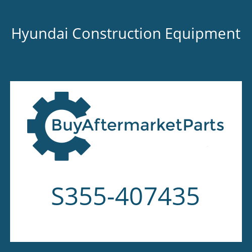 Hyundai Construction Equipment S355-407435 - PLATE-TAPPED