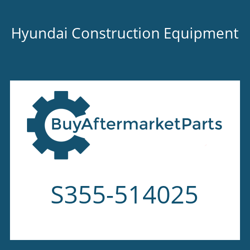 Hyundai Construction Equipment S355-514025 - PLATE-TAPPED,1 HOLE