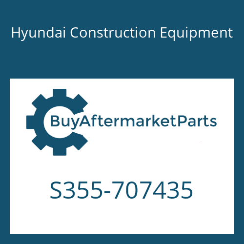 Hyundai Construction Equipment S355-707435 - PLATE-TAPPED 1 HOLE