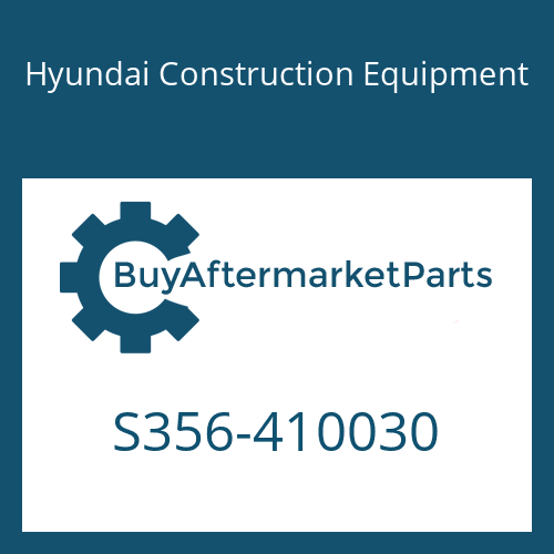 Hyundai Construction Equipment S356-410030 - PLATE-TAPPED,1 HOLE