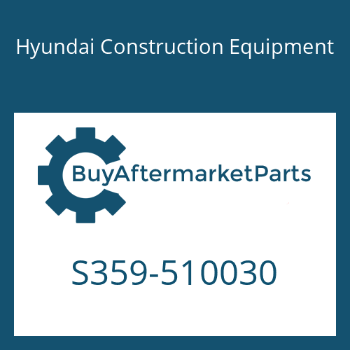 Hyundai Construction Equipment S359-510030 - PLATE-TAPPED,1 HOLE