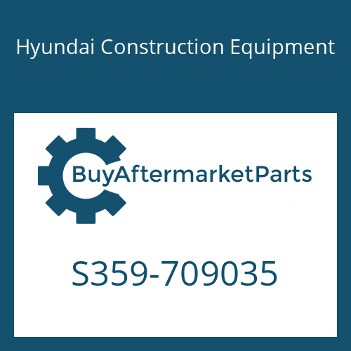 Hyundai Construction Equipment S359-709035 - PLATE-TAPPED,1 HOLE