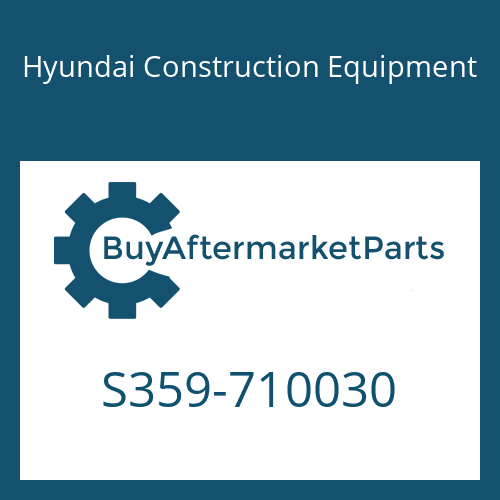 Hyundai Construction Equipment S359-710030 - PLATE-TAPPED,1 HOLE
