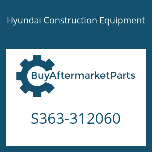 Hyundai Construction Equipment S363-312060 - PLATE-TAPPED