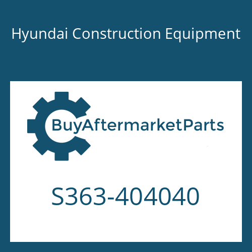 Hyundai Construction Equipment S363-404040 - PLATE-TAPPED 2 HOLE