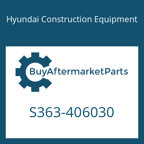 Hyundai Construction Equipment S363-406030 - PLATE-TAPPED
