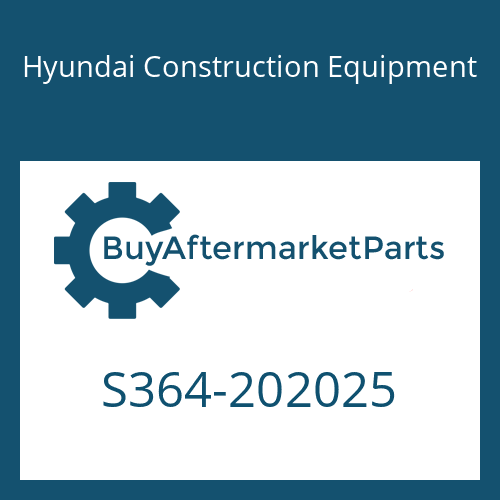 Hyundai Construction Equipment S364-202025 - PLATE-TAPPED,2 HOLE