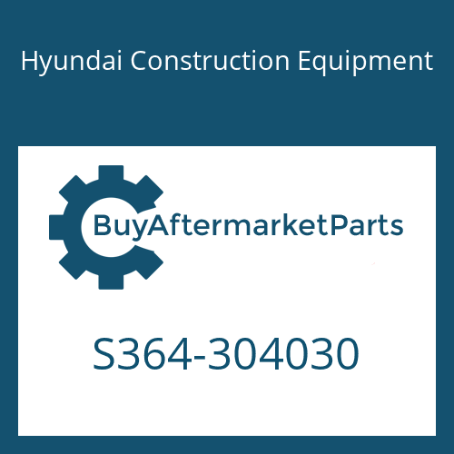 Hyundai Construction Equipment S364-304030 - PLATE-TAPPED,2 HOLE
