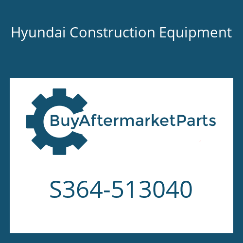 Hyundai Construction Equipment S364-513040 - PLATE-TAPPED,2 HOLE