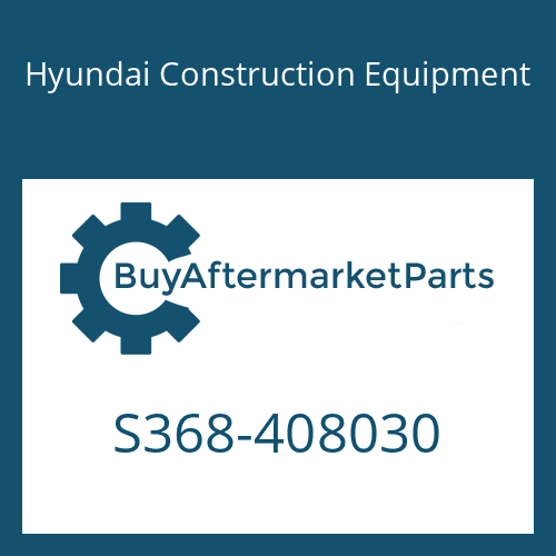 Hyundai Construction Equipment S368-408030 - PLATE-TAPPED,2 HOLE