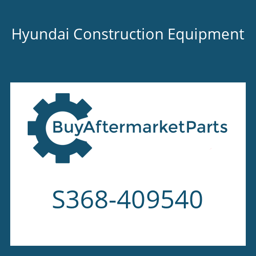 Hyundai Construction Equipment S368-409540 - PLATE-TAPPED,2 HOLE