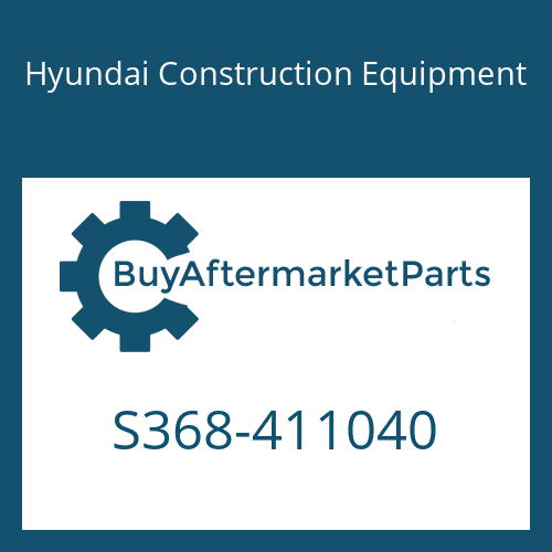 Hyundai Construction Equipment S368-411040 - PLATE-TAPPED,2 HOLE