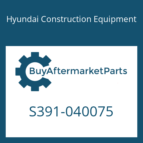 Hyundai Construction Equipment S391-040075 - SHIM-ROUND 1.0