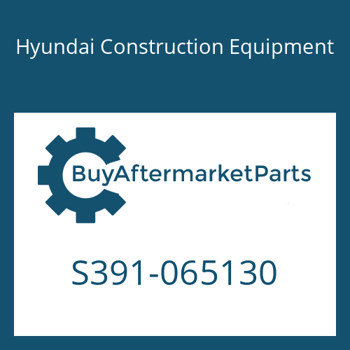 Hyundai Construction Equipment S391-065130 - SHIM-ROUND 1.0