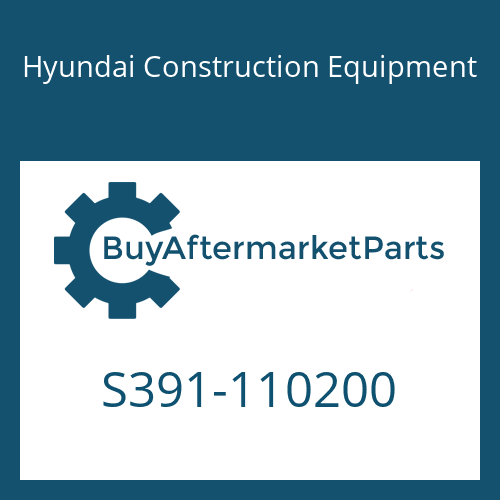 Hyundai Construction Equipment S391-110200 - SHIM-ROUND 1.0