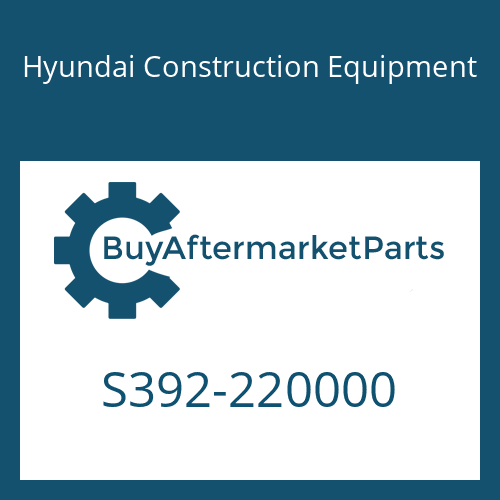 Hyundai Construction Equipment S392-220000 - SHIM-ROUND