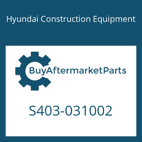 Hyundai Construction Equipment S403-031002 - PLAIN WASHER