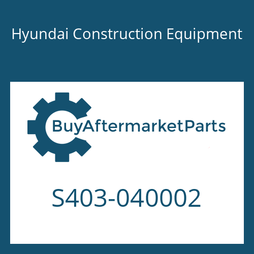 Hyundai Construction Equipment S403-040002 - WASHER-PLAIN