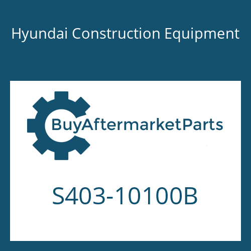 Hyundai Construction Equipment S403-10100B - WASHER-PLAIN