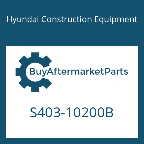 Hyundai Construction Equipment S403-10200B - WASHER-PLAIN