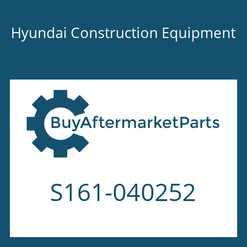Hyundai Construction Equipment S161-040252 - BOLT-CROSS RD