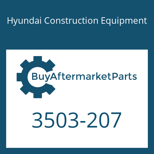 Hyundai Construction Equipment 3503-207 - COVER