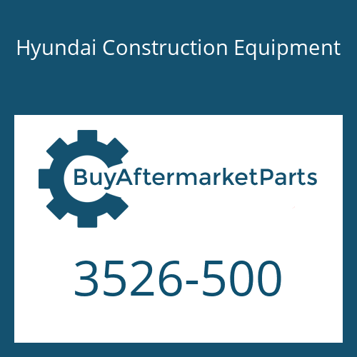 Hyundai Construction Equipment 3526-500 - PLUG