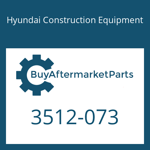 Hyundai Construction Equipment 3512-073 - PISTON-CONTROL