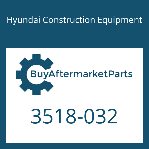 Hyundai Construction Equipment 3518-032 - Orifice