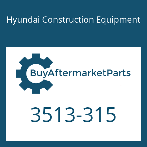 Hyundai Construction Equipment 3513-315 - POPPET