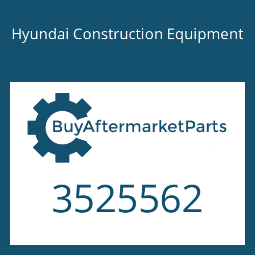 Hyundai Construction Equipment 3525562 - Dataplate
