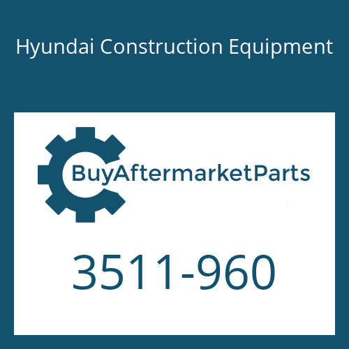 Hyundai Construction Equipment 3511-960 - PLUNGER-SWING