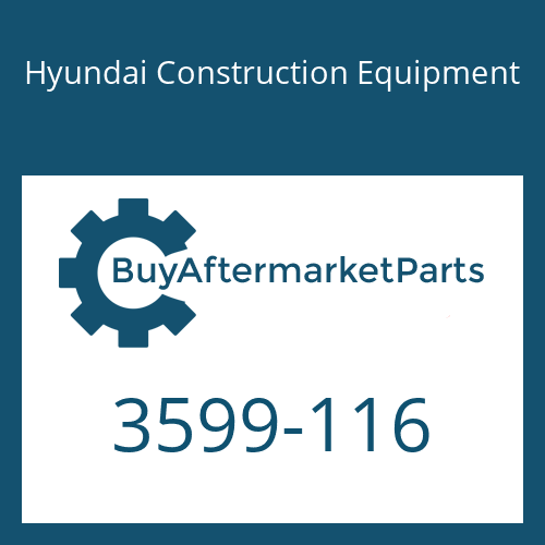 Hyundai Construction Equipment 3599-116 - Stopper