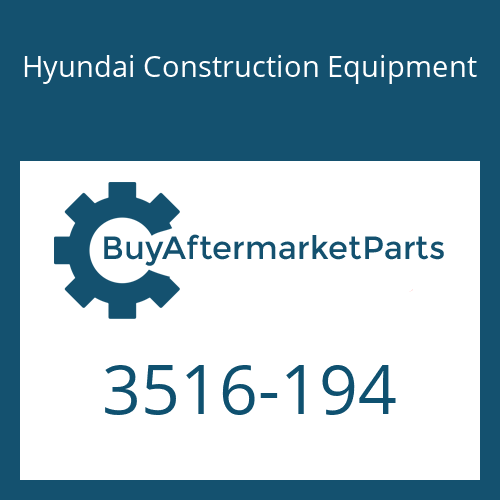 Hyundai Construction Equipment 3516-194 - SLEEVE