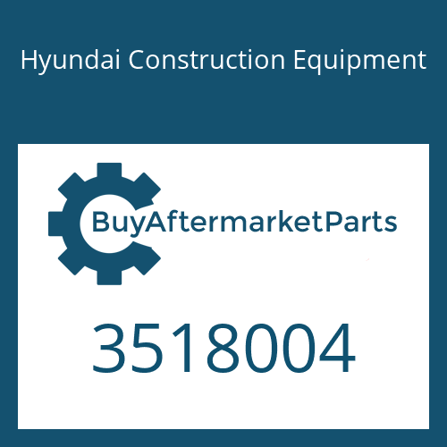 Hyundai Construction Equipment 3518004 - Washer-Lock