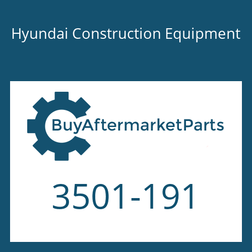 Hyundai Construction Equipment 3501-191 - HOUSING