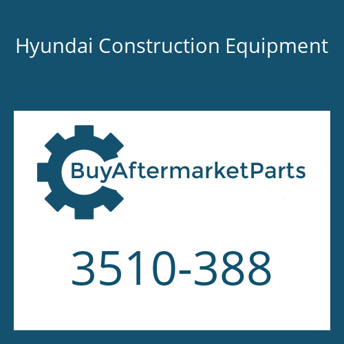 Hyundai Construction Equipment 3510-388 - PLUNGER-BUCKET