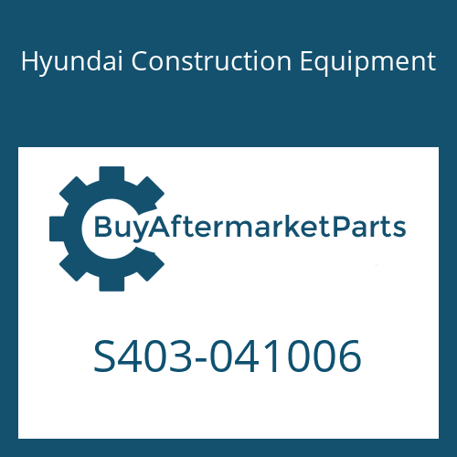 Hyundai Construction Equipment S403-041006 - WASHER-PLAIN