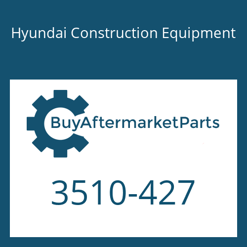 Hyundai Construction Equipment 3510-427 - PLUNGER ASSY