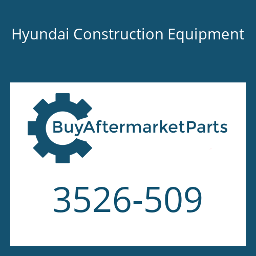 Hyundai Construction Equipment 3526-509 - PLUG