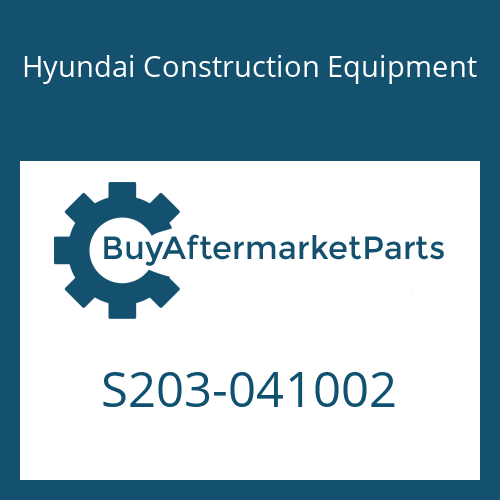 Hyundai Construction Equipment S203-041002 - NUT-HEX