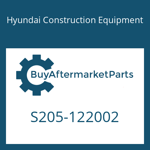 Hyundai Construction Equipment S205-122002 - NUT-HEX
