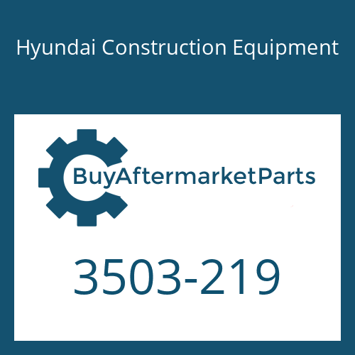 Hyundai Construction Equipment 3503-219 - COVER