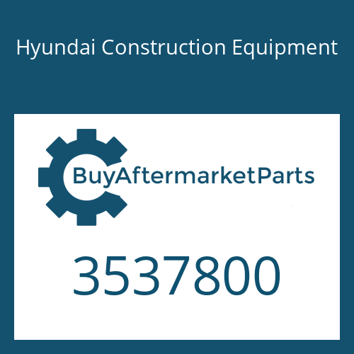 Hyundai Construction Equipment 3537800 - TURBOCHARGER
