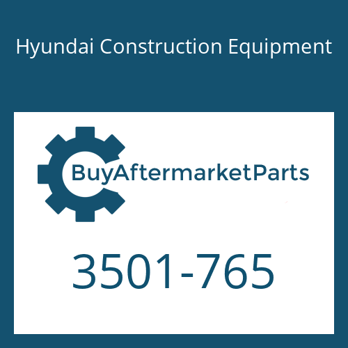Hyundai Construction Equipment 3501-765 - HOUSING
