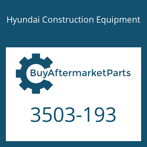 Hyundai Construction Equipment 3503-193 - COVER